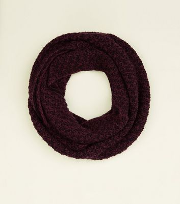 Burgundy Chevron Loop Knit Snood