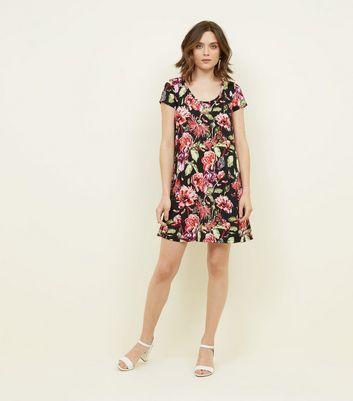 Brave Soul Floral Smock Dress New Look