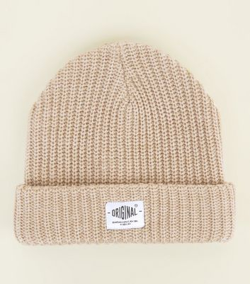 Stone Badge Front Beanie