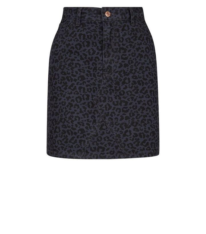 200a020ae8 ... Grey Leopard Print Denim Mini Skirt. ×. ×. ×. Shop the look