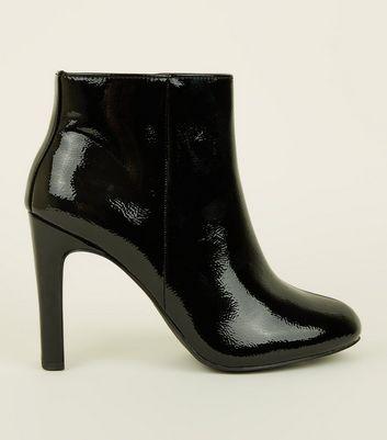 black slim heel ankle boots