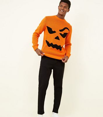 Orange Halloween Pumpkin Jumper