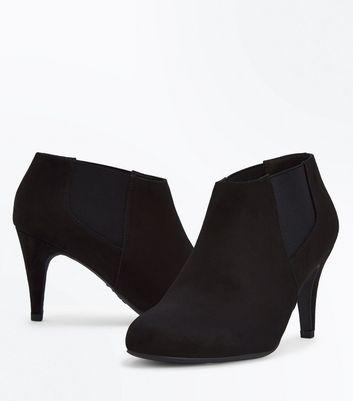 Black Suedette Chelsea Shoe Boots New Look