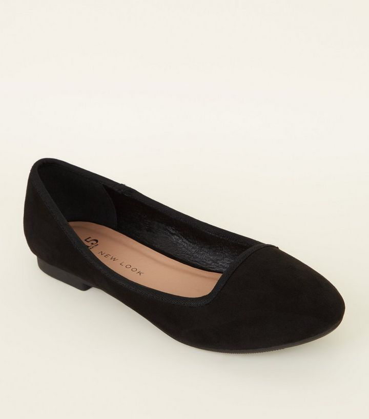 9380835c65c Girls Black Suedette Slip On Pumps Add to Saved Items Remove from Saved  Items