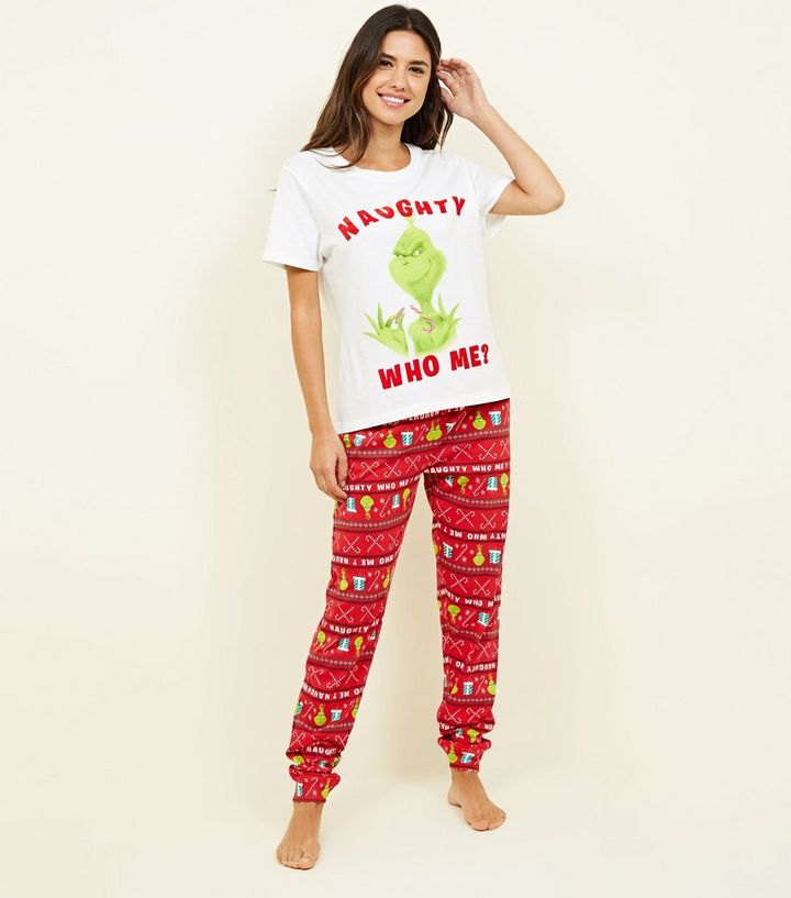 f8231ed200bc Red Grinch Pyjama Set