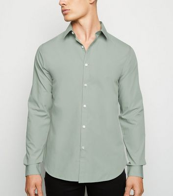 Light Green Long Sleeve Poplin Shirt