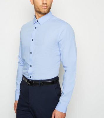 Pale Blue Long Sleeve Poplin Shirt