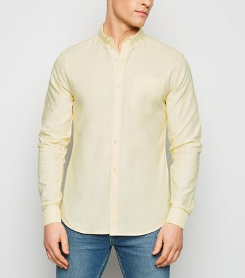 Pale Yellow Long Sleeve Oxford Shirt