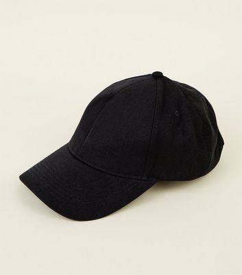 Black Six Panel Cap