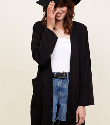 Carpe Diem Pocket Side Long Sleeve Kimono New Look