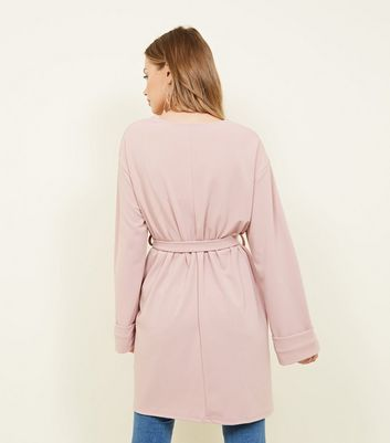 Carpe Diem Pale Pink Belted Wrap Kimono New Look