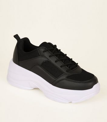 Black Ultra Chunky Lace Up Trainers