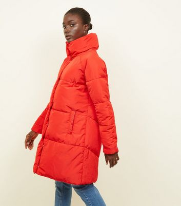 Blue Vanilla Red Duvet Puffer Coat