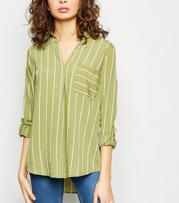Green Stripe Overhead Shirt