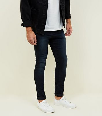 Navy Dark Wash Stretch Skinny Jeans