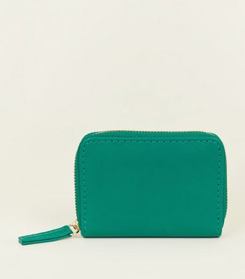 Green Zip Around Card Holder
