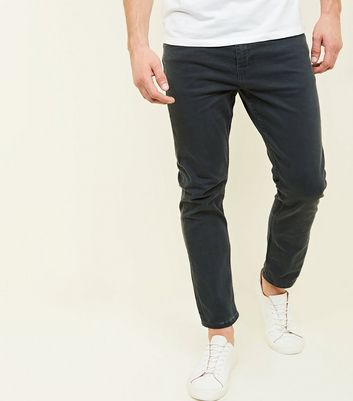 Dark Grey Ankle Grazer Slim Jeans