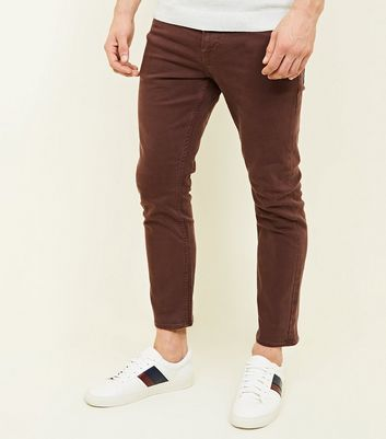 Rust Ankle Grazer Slim Jeans