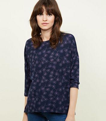 JDY Navy Dandelion Fine Knit Top New Look