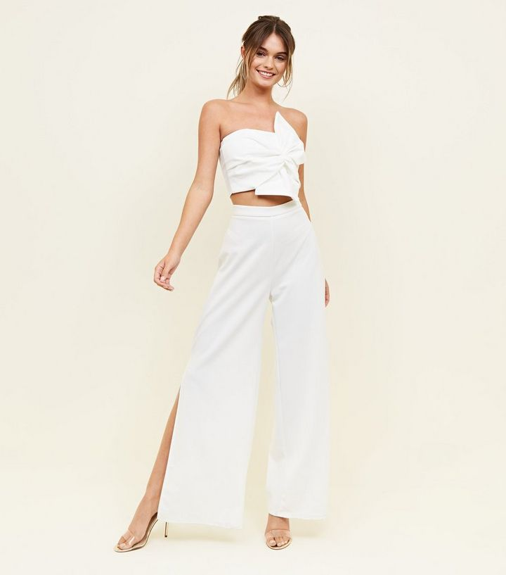 8a340691698 ... White Strapless Bow Front Crop Top. ×. ×. ×. Shop the look