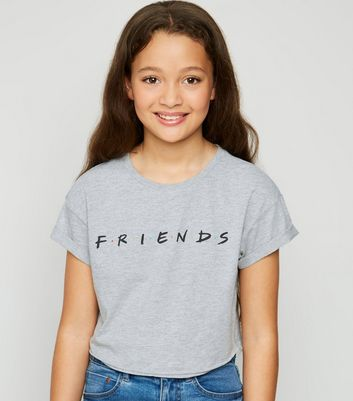 Girls Grey Friends Logo T-Shirt
