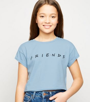 Girls Pale Blue Friends Logo T-Shirt