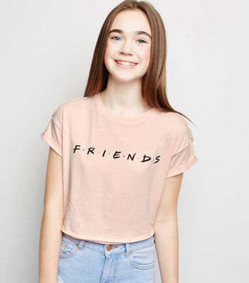 Girls Pale Pink Friends Logo T-Shirt