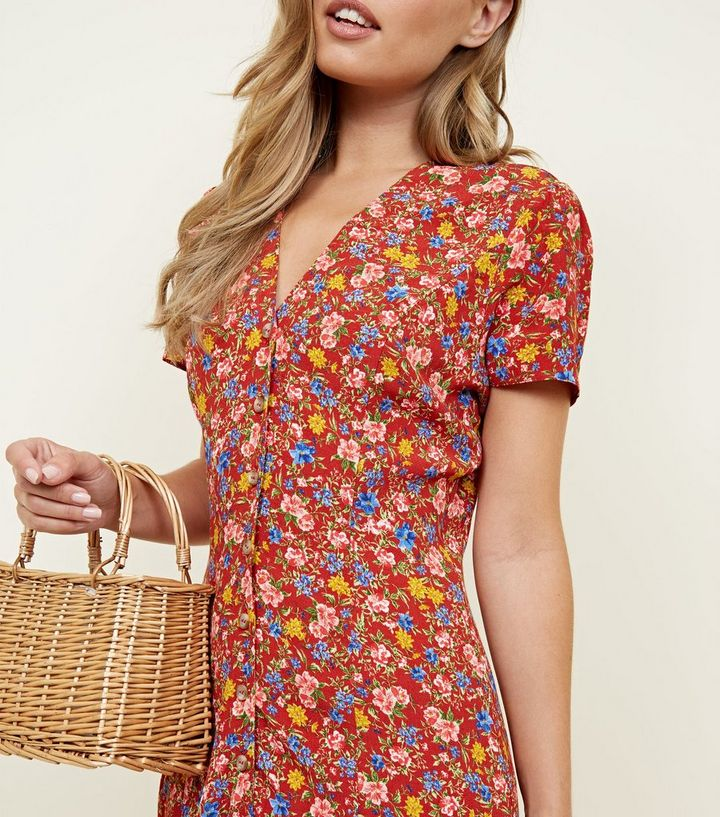 c5ab4166cc0 ... Rust Floral Midi Tea Dress. ×. ×. ×. Shop the look