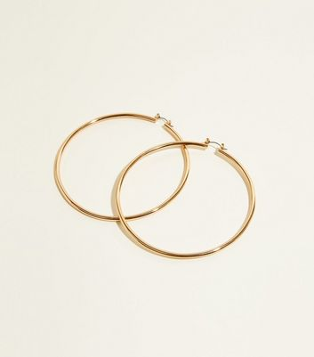Gold Thick Hoop Earrings