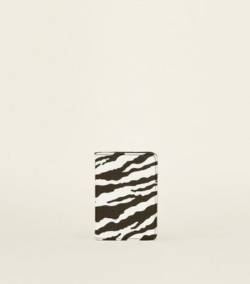 Black Zebra Print Passport Holder
