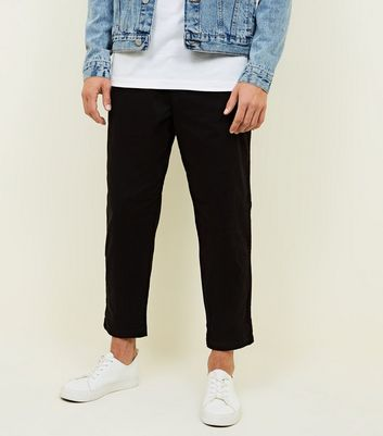 Black Wide Tapered Jeans