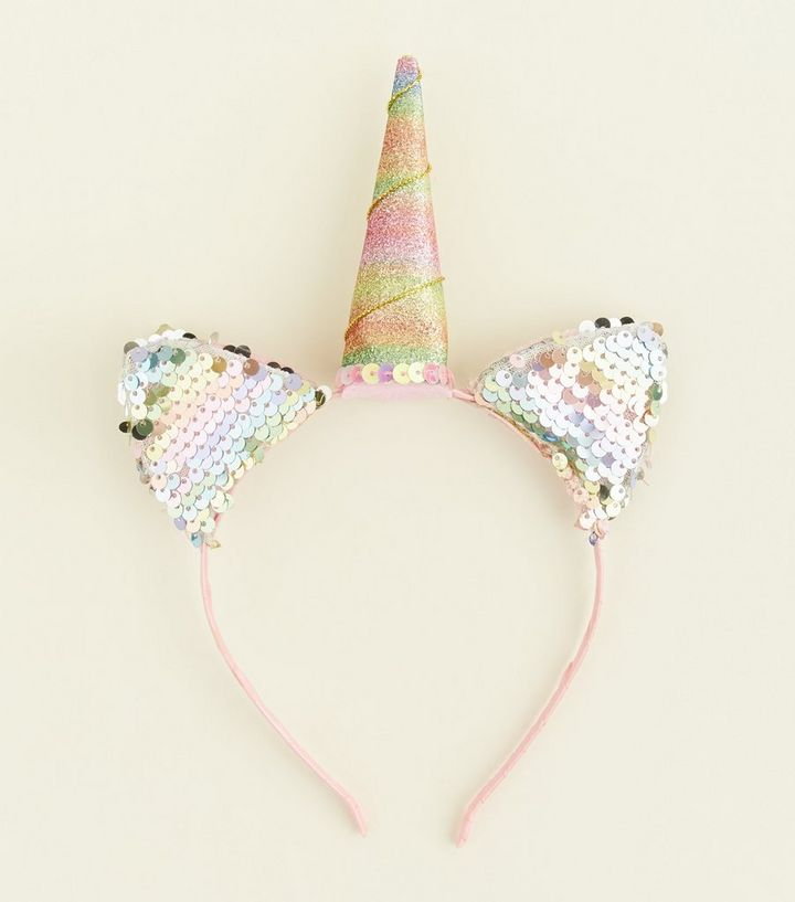 Multicolour Sequin Unicorn Headband  b28822f7b8d