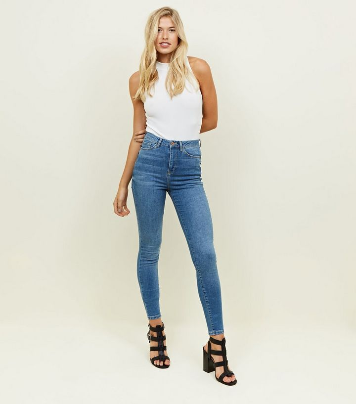 4721fc343a7eb Tall Blue Super Skinny Lift Shape Jeans New Look. White Plus Size ...