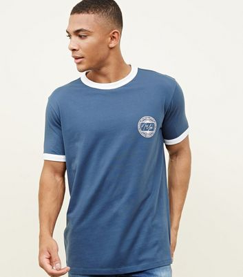 Bright Blue New York Print Side T-Shirt