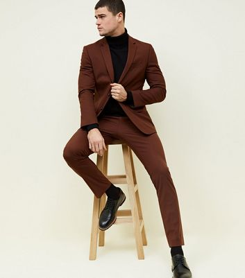 Brown Slim Fit Blazer