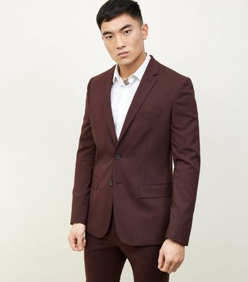 Burgundy Slim Fit Blazer