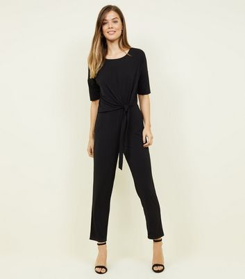 Jdy Black Knot Front Jumpsuit by New Look