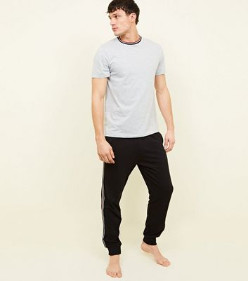 Black Side Stripe and Grey T-Shirt Pack
