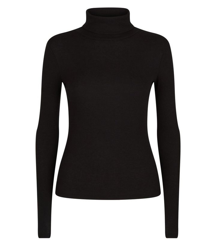 e90f4760d ... Black Ribbed Roll Neck Top. ×. ×. ×. Shop the look