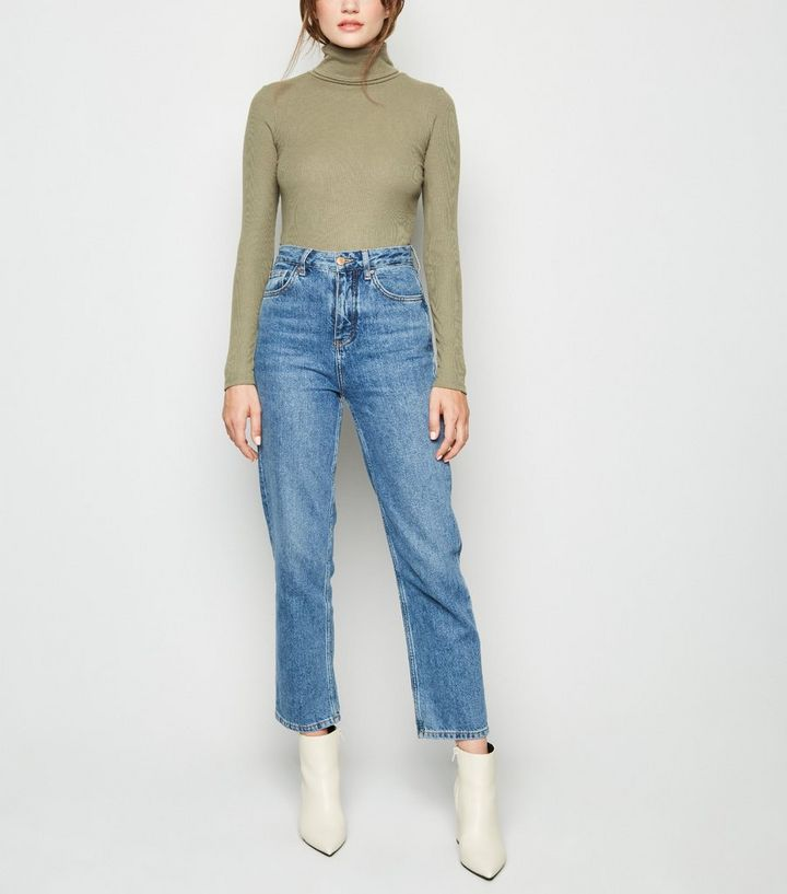 d8482506554 ... Khaki Ribbed Roll Neck Top. ×. ×. ×. Shop the look