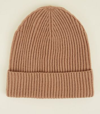 Mink Ribbed Beanie Hat