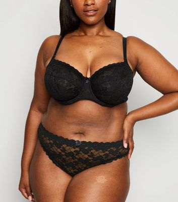 Curves Black Lace Underwired Bra