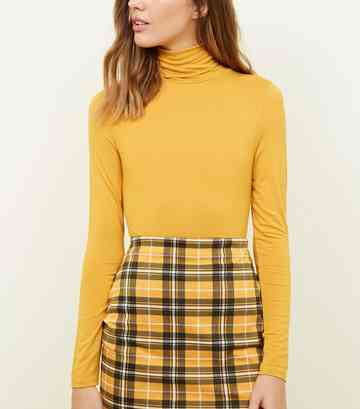 Mustard Roll Neck Top