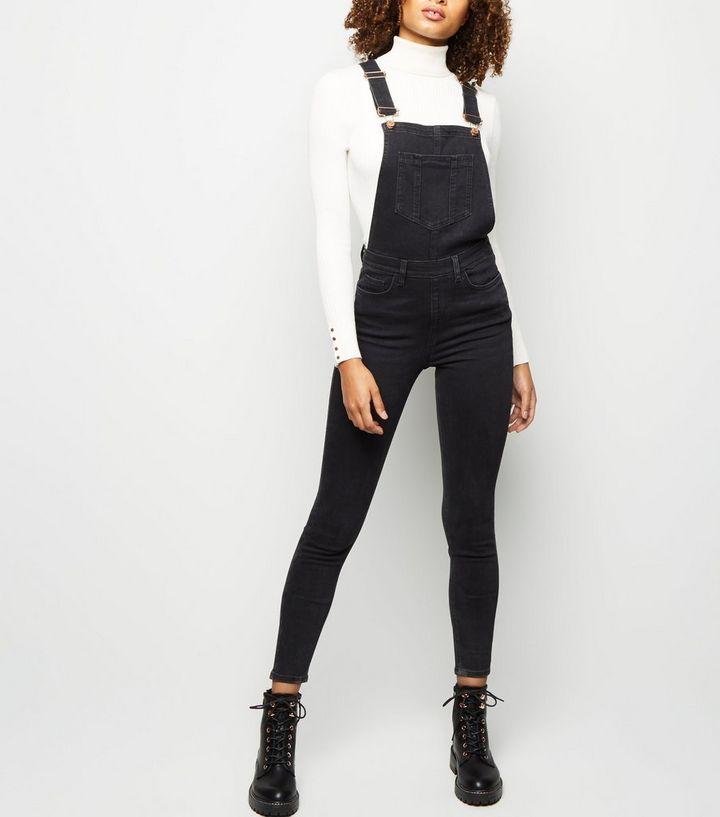 forme élégante le magasin la qualité d'abord Tall - Salopette skinny en jean noir à poche sur le devant Ajouter à la  Wishlist Supprimer de la Wishlist