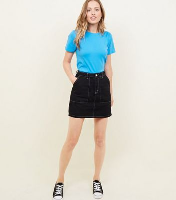 Bright Blue Cotton T-Shirt New Look