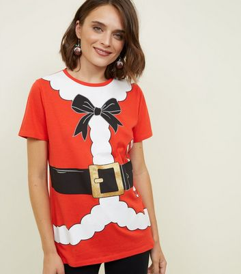Red Santa Dress Up T-Shirt