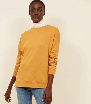 Mustard Crew Neck Oversized Sweatshirt