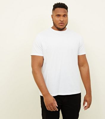 Plus Size White Crew Neck T-Shirt