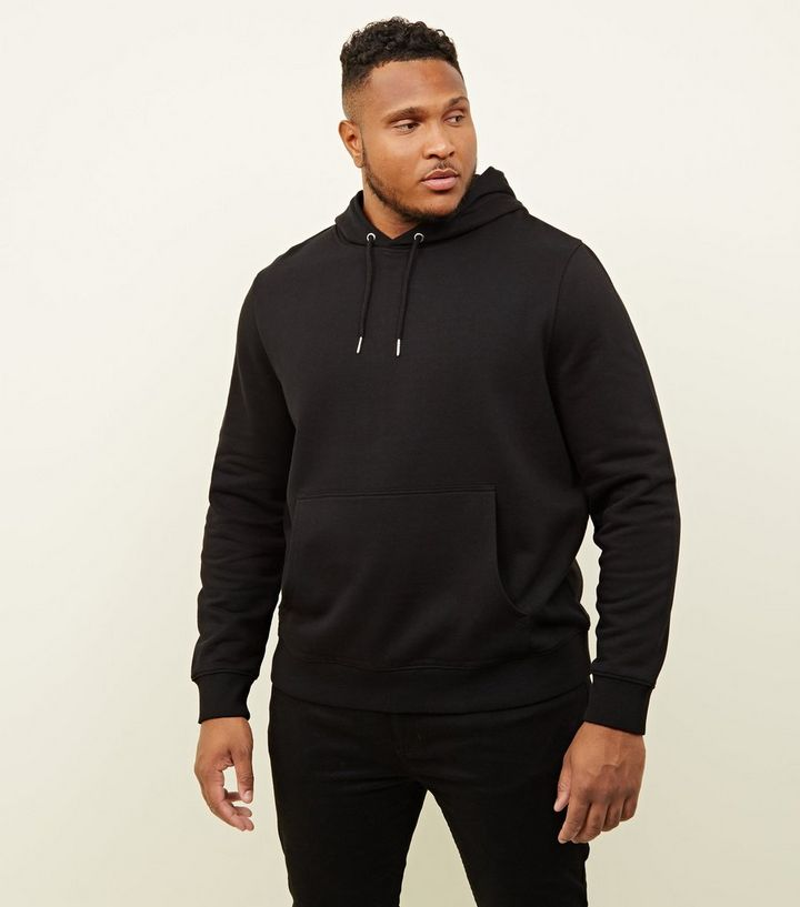 7f9c0dc28a Plus Size Black Pocket Front Hoodie | New Look