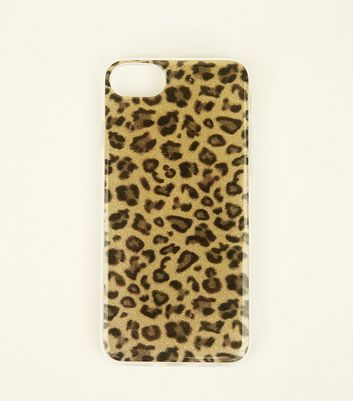 Brown Glitter Leopard Print iPhone 6/6s/7 Case